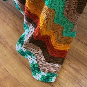 King sized handmade Afghan in fall colors
